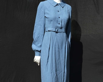 Vintage 40's dress shirt dress in perfect condition WWII uniform size M rockabilly swing by thekaliman