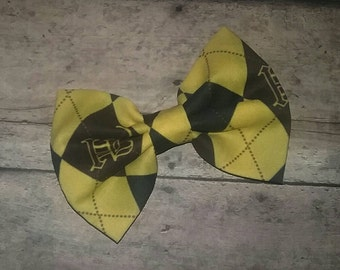 Harry Potter Hufflepuff Fabric Bow 3.5 Inches