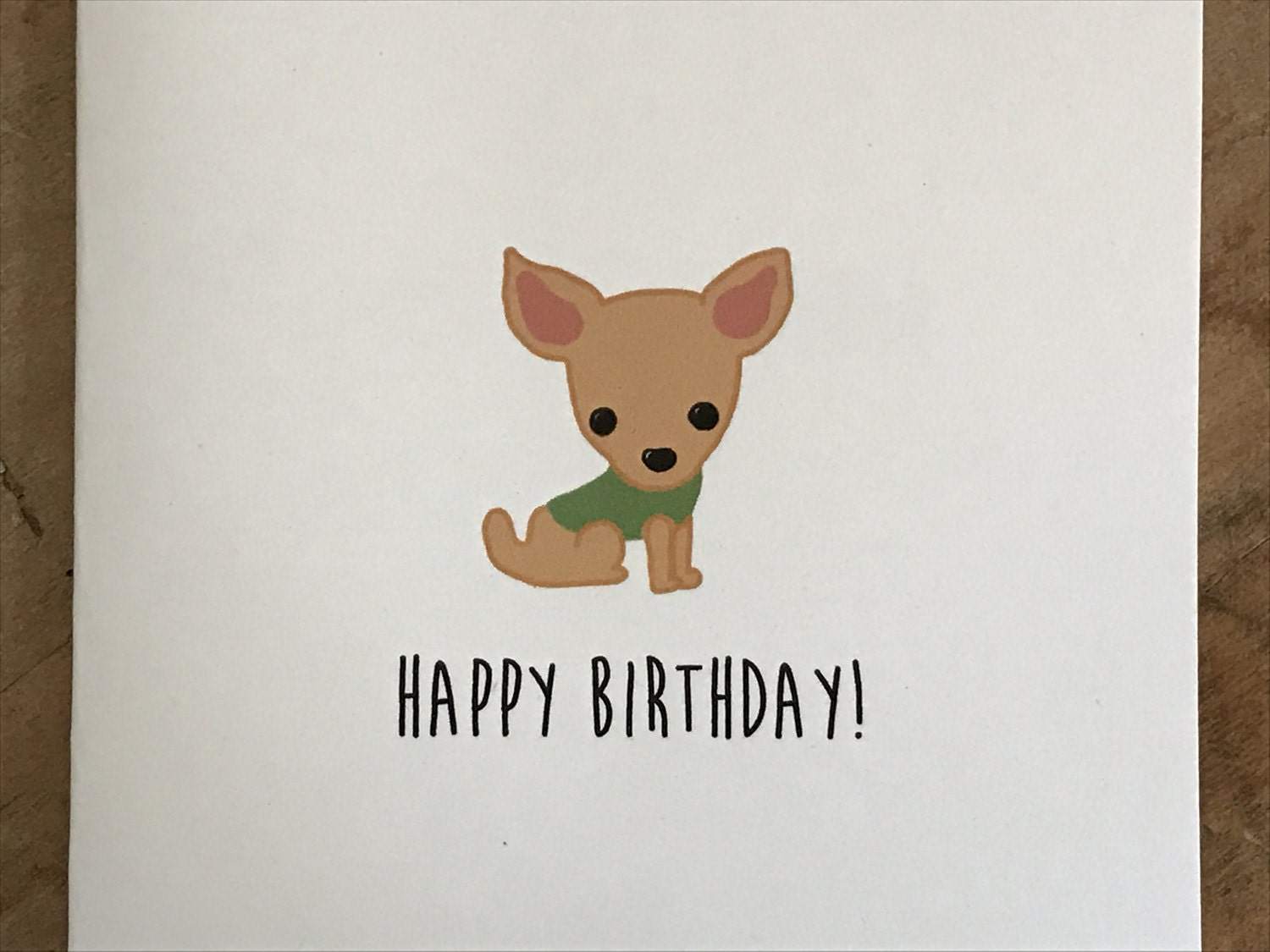 Chihuahua birthday card birthday card from the dog birthday card chihuahua birthday card birthday card from the dog birthday card from the chihuahua made on recycled paper comes with envelope and seal bookmarktalkfo Images