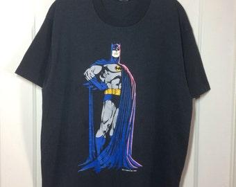 Batman the Caped Cruisader T-shirt size XL 22x28.5 DC Comics 1989 black screen stars