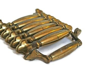 Vintage Drawer Pulls  - Dresser Hardware - 7 Brass Knobs for Repurpose or Furniture Restoration
