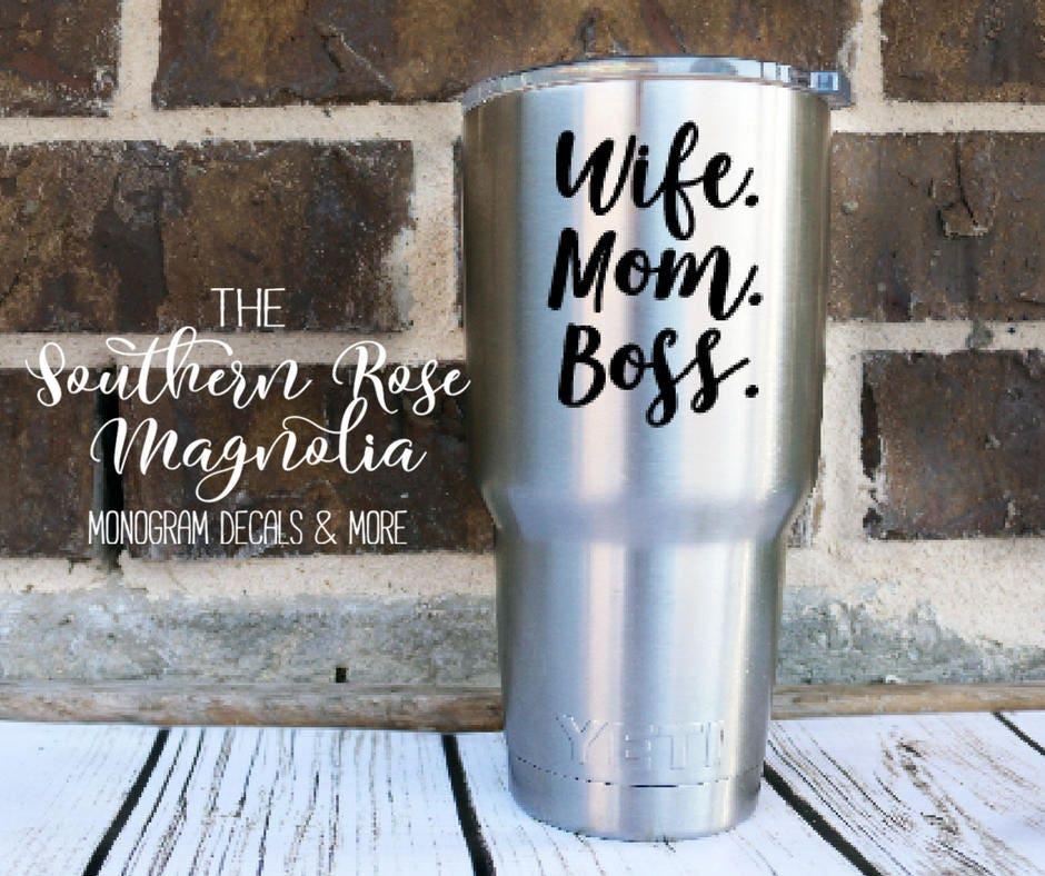 Yeti Decal Wife Mom Boss Yeti Decal For Women Mothers Day