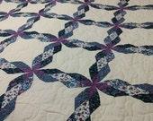 Purple & Ivory Queen Quilt
