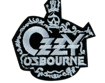 Ozzy Osbourne Prince of Darkness Patch Iron on Applique Alternative Clothing Heavy Metal Music - YDS-PA-2427-PATCH