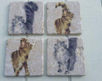 Kittens Cat Coaster Set of 4 Tea Coffee Beer Coasters