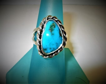 Turquoise Ring Turquoise silver ring silver southwest