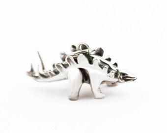 Stegosaurus Sterling Silver Charm Pendant