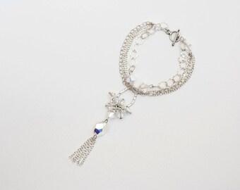 0054- Swarovski  Crystal Bracelet in sterling-silver