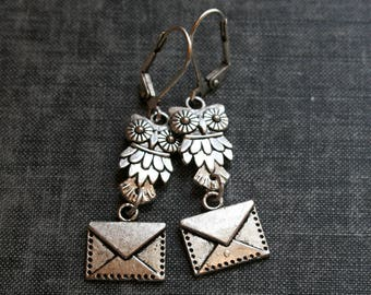 Harry Potter Earrings Hedwig Earrings Owl Post Earrings Owl and Envelope