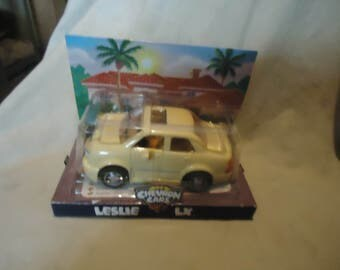 Vintage Chevron Cars Leslie LX Toy In Package, collectable