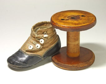 Vintage Wooden Textile Spool, Display Stand  - circa 1940's