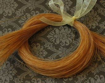 """Natural Blonde HorseHair for Braiding, Weaving and Jewelry Making Tassels Golden Blonde 12 grams 22-25"""" long- HH-BLD"""