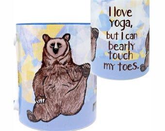 Yoga Bear Mug by Pithitude
