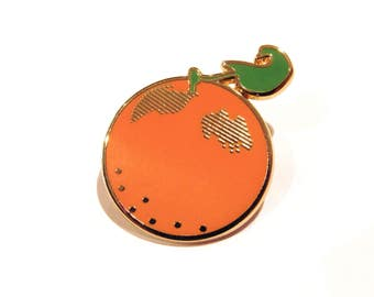 SALE! Orange Enamel Pin - Ready to Ship!