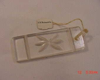 Vintage F.W. Woolworth Co. Lucite Key Chain  16 - 805