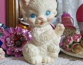 ON SALE Vintage Baby Squeak Toy-Sun Rubber-Ruth Newton-Mobley-1958-Squeak-Cat-Kitten