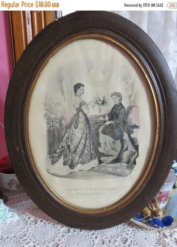 ON SALE Framed Paris De La Mode Illustratee-1880's