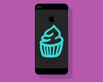 New! - CUPCAKE VINYL Decal, Bakery Decal, Illustrated Decal, Mobile Decal, Vinyl Sticker