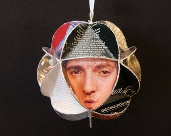 Bruce Springsteen Ornament Made Of Album Covers - Repurposed Record Jackets