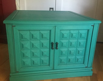 Vintage Teal Cabinet ~ ASCP Florence  - San Diego Local Pickup