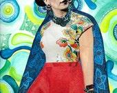 Frida Kahlo Art Prints, Frida, Frida Kahlo, Mexican Artist, Feminist, Portrait, Collage