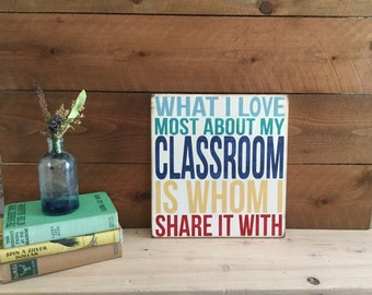 Classroom Decor - Teacher Gift -  Hand Painted Sign - Wood Sign - Word Art - Rustic Sign - Classroom Gift - Back to School - Gift for Teache