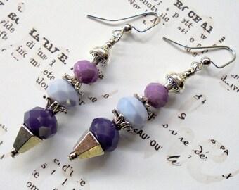 Purple, Plum and Lavender Earrings (3186)