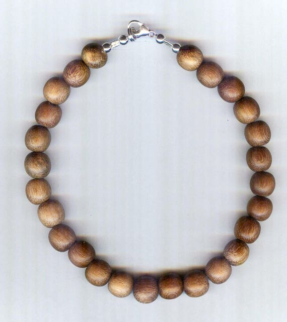 Stunning High Quality MATTE Robles Wood Beaded Bracelet or Necklace