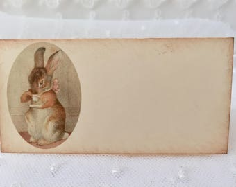 Bunny Tea Party Placecards Place Cards Food Buffet Candy Bar Signs Set of 10