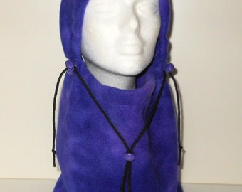 Purple Blended Tie Dye Adult Fleece Balaclava Hat Ski Mask - Winter Hat - Gift For Her - Gift For Him