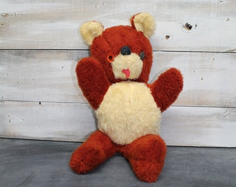 Vintage Teddy Bear From the Animal Playland of A&L Novelty Co., Button Eye Teddy Bear