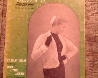 Vintage 1956 Bernat Handicrafter Knitting Pattern Book 51