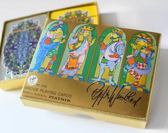 Vintage Bjorn Wiinblad  Playing Cards Piatnik Harrods NIB