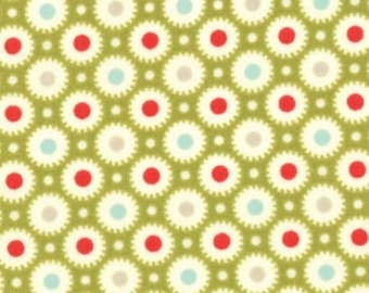 Marmalade Bonnie & Camille Dots leaf green moda fabric FQ or more