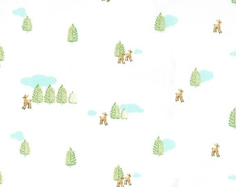 Deer white Hideaway Lauren & Jessi Jung moda fabrics FQ or two