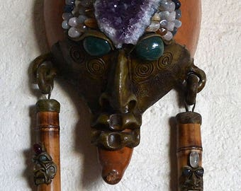 Shamanistic Mask With Gemstones