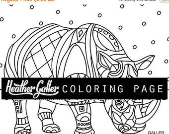 70 off today rhino coloring animal art coloring book adult coloring book coloring pages adult coloring pages coloring book for adults