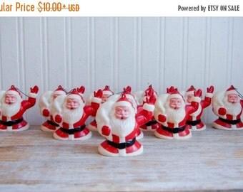 Vintage Santa Ornament, Santa Tree Light, Vintage Santa Clause, Retro Xmas, Mid Century Christmas, Kitsch Christmas, Santa Decor, Red White