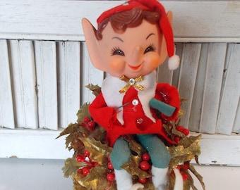 Vintage Christmas SHELF ELF 0070