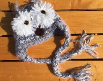 Crochet Owl Soft Baby Beanie
