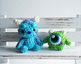 Mike and Sully Amigurumi