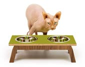 """Custom Listing for Nicole ~ Mid Century Modern Pet Feeder 