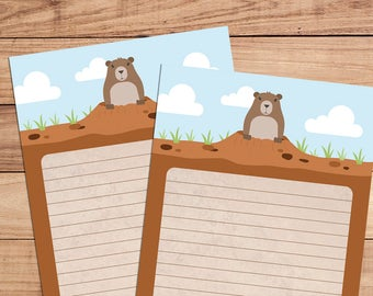 Groundhog Day - A5 Stationery - 12, 24 or 48 sheets