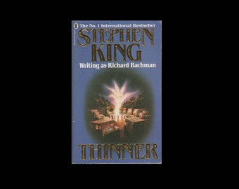 Stephen King: Thinner. Richard Bachman. 1986 Vintage Paperback Book. Horror. Fiction.
