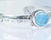 Arizona Turquoise Cuff Bracelet in Handcrafted Sterling Silver