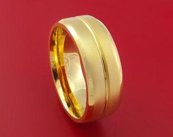 14K Yellow Gold Classic Style Wedding Band Custom Made