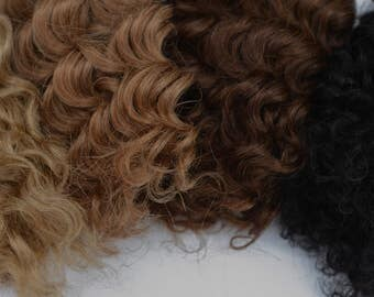 Mohair Weft -Wavy and Curly- Doll Making