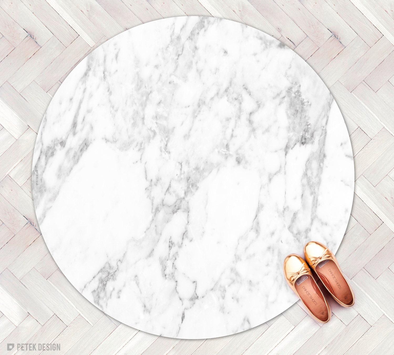 Carrara Marble Rug Kitchen Rug Round Rug Minimalist