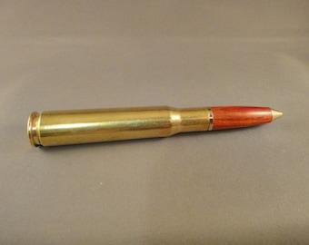 50 Caliber Bullet Pen - Redheart Wood Bullet