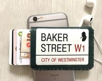 Business Card Holder, Credit Card Holder, Oyster Card Holder, London Card Holder, Debit Card Holder - Baker Street Sherlock Holmes